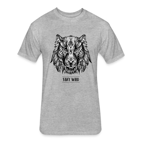 Stay Wild - Fitted Cotton/Poly T-Shirt by Next Level