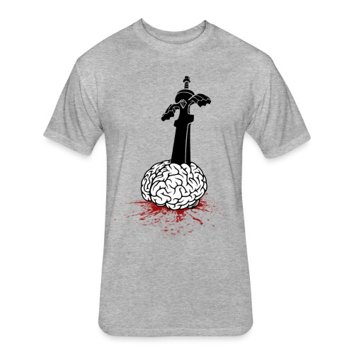 Sword in Brain - Fitted Cotton/Poly T-Shirt by Next Level