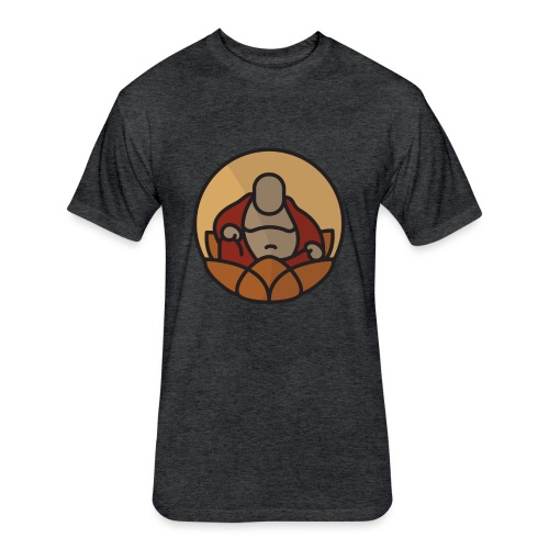 AMERICAN BUDDHA CO. COLOR - Fitted Cotton/Poly T-Shirt by Next Level