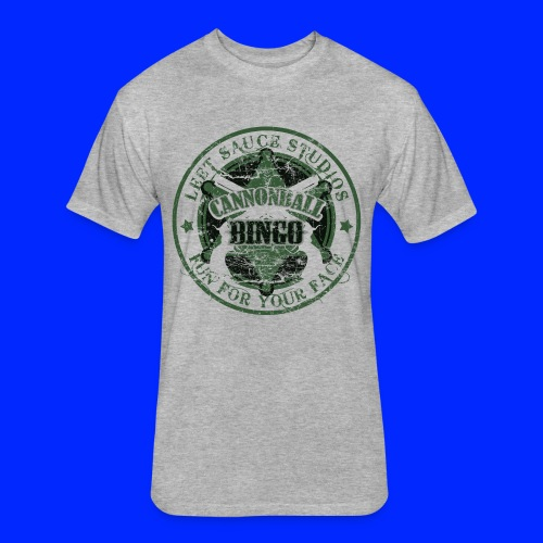Vintage Cannonball Bingo Badge Dark Green - Fitted Cotton/Poly T-Shirt by Next Level