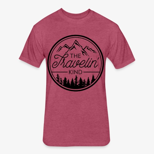 The Travelin Kind - Fitted Cotton/Poly T-Shirt by Next Level