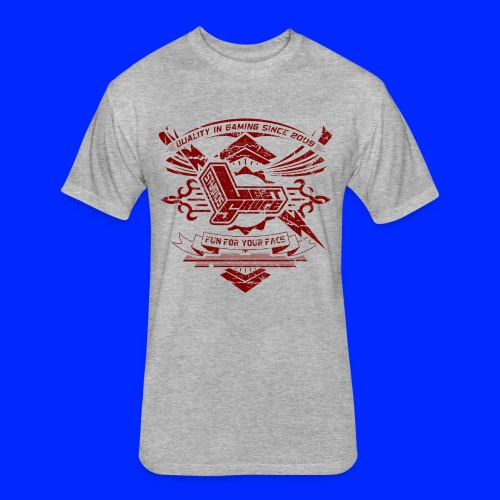 Vintage Leet Sauce Studios Crest Red - Fitted Cotton/Poly T-Shirt by Next Level