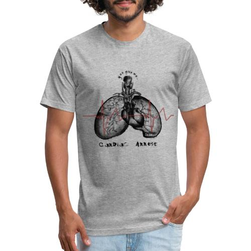 IZÄR CARDIAC ARREST - Fitted Cotton/Poly T-Shirt by Next Level