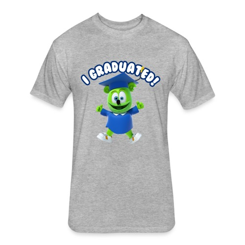 I Graduated! Gummibar (The Gummy Bear) - Fitted Cotton/Poly T-Shirt by Next Level