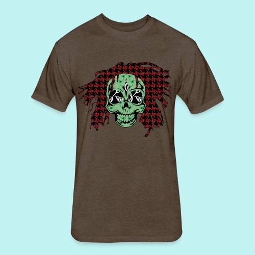 BOB MARLEY SKULLY - Fitted Cotton/Poly T-Shirt by Next Level