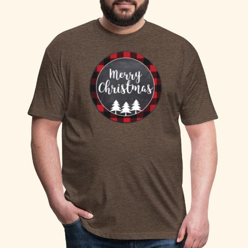 Merry Christmas Country Tee - Fitted Cotton/Poly T-Shirt by Next Level