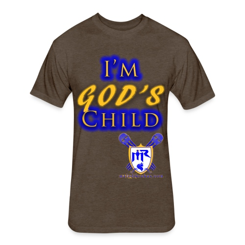 God s Child T - Fitted Cotton/Poly T-Shirt by Next Level