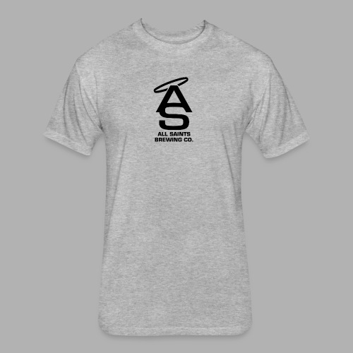 AS Logo Black - Fitted Cotton/Poly T-Shirt by Next Level
