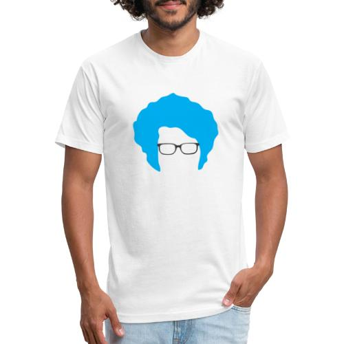 Geo Nerd (him) - Fitted Cotton/Poly T-Shirt by Next Level