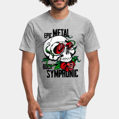 epic rock symphonic - Fitted Cotton/Poly T-Shirt by Next Level
