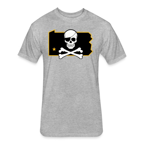 Bones PA (Sticker) - Fitted Cotton/Poly T-Shirt by Next Level
