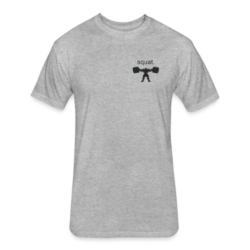 Squat - Fitted Cotton/Poly T-Shirt by Next Level