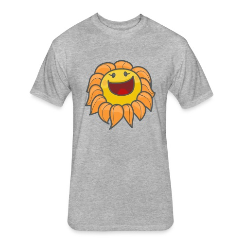 Happy sunflower - Fitted Cotton/Poly T-Shirt by Next Level