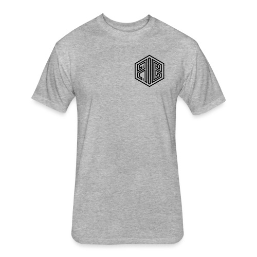 Whiteout // BLACK Brand Logo > WHITE - Fitted Cotton/Poly T-Shirt by Next Level