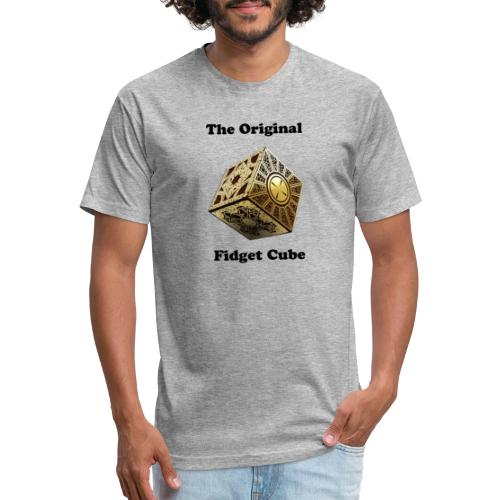 Figet Cube - Fitted Cotton/Poly T-Shirt by Next Level
