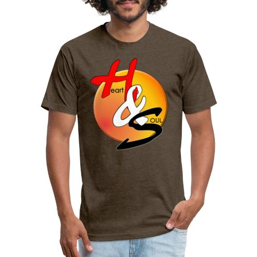 Rcahas logo gold - Fitted Cotton/Poly T-Shirt by Next Level