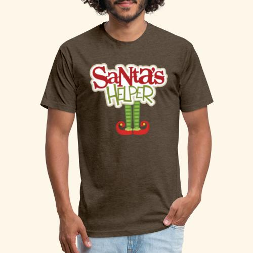 ELF FEET Santa's Helper Christmas tee - Fitted Cotton/Poly T-Shirt by Next Level