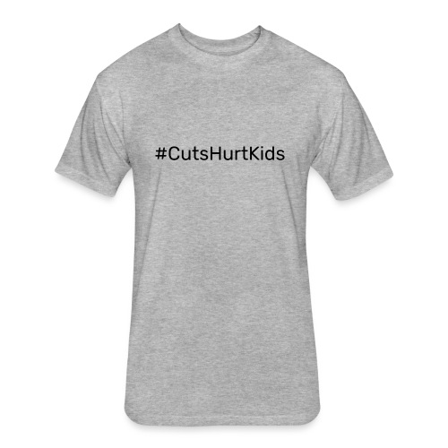#CutsHurtKids - Fitted Cotton/Poly T-Shirt by Next Level