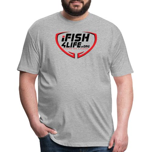 iFish4Life.org - Fitted Cotton/Poly T-Shirt by Next Level