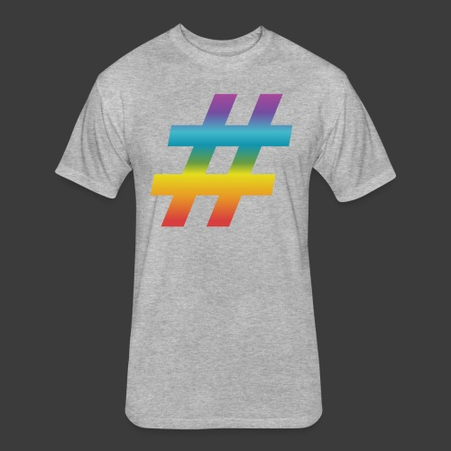 Rainbow Include Hash - Fitted Cotton/Poly T-Shirt by Next Level
