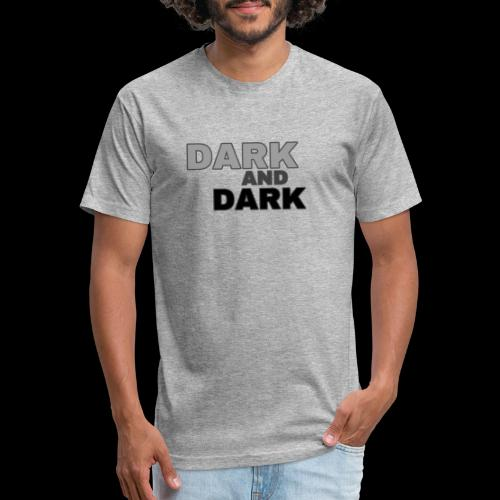Dark And Dark Collection - Fitted Cotton/Poly T-Shirt by Next Level