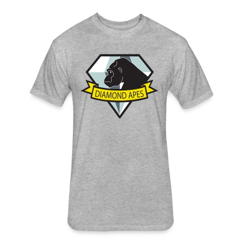 diamondape - Fitted Cotton/Poly T-Shirt by Next Level