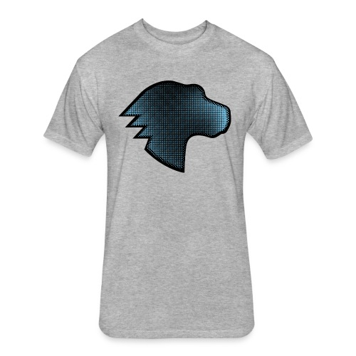 Dino Gradient - Fitted Cotton/Poly T-Shirt by Next Level