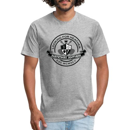 Looking For Heather - National Anthem Crest - Fitted Cotton/Poly T-Shirt by Next Level