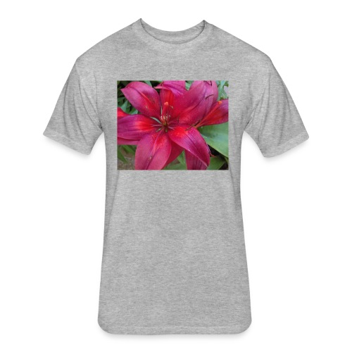 Exotic Flower - Fitted Cotton/Poly T-Shirt by Next Level