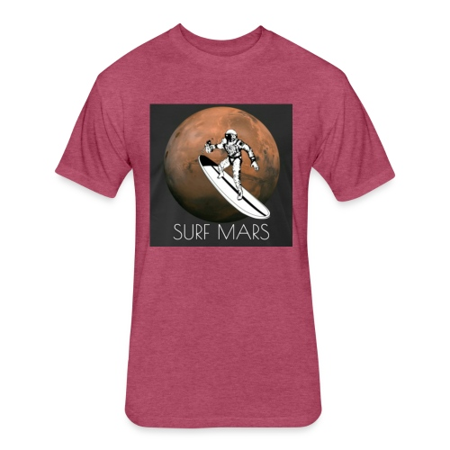 space surfer - Fitted Cotton/Poly T-Shirt by Next Level