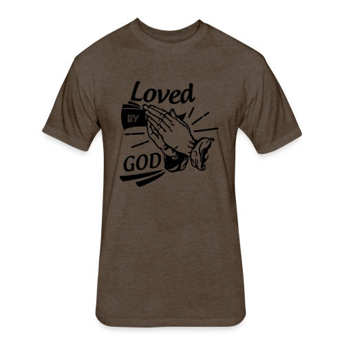 Loved By God (Black Letters) - Fitted Cotton/Poly T-Shirt by Next Level