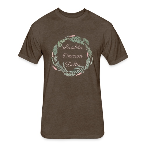 LOD Flower Wreath 1 - Fitted Cotton/Poly T-Shirt by Next Level