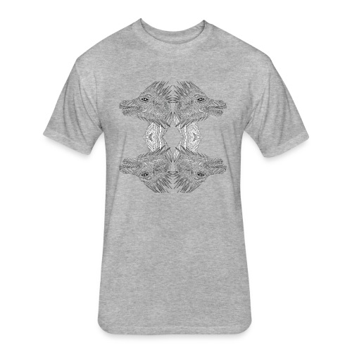 Four head dragon - Fitted Cotton/Poly T-Shirt by Next Level