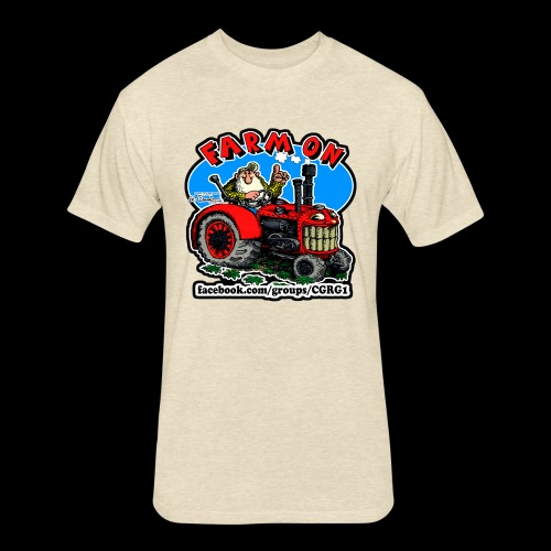 Mr Natural Farm On - Fitted Cotton/Poly T-Shirt by Next Level