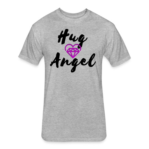 Hug Angel Diamond Heart - Fitted Cotton/Poly T-Shirt by Next Level