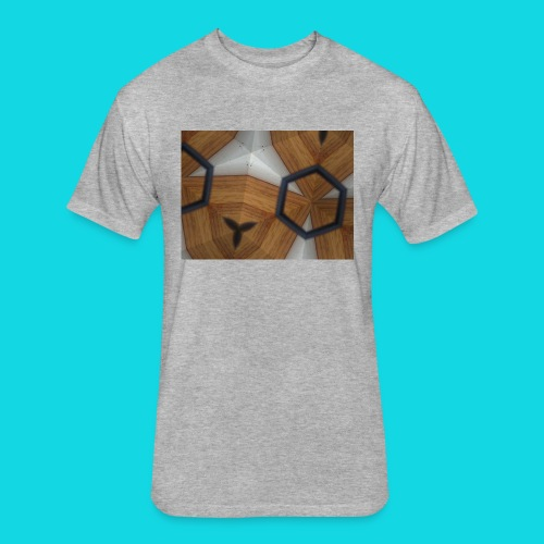 Kaleidoscope - Fitted Cotton/Poly T-Shirt by Next Level