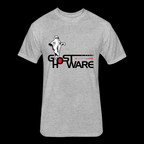 Ghostware Wide Logo - Fitted Cotton/Poly T-Shirt by Next Level