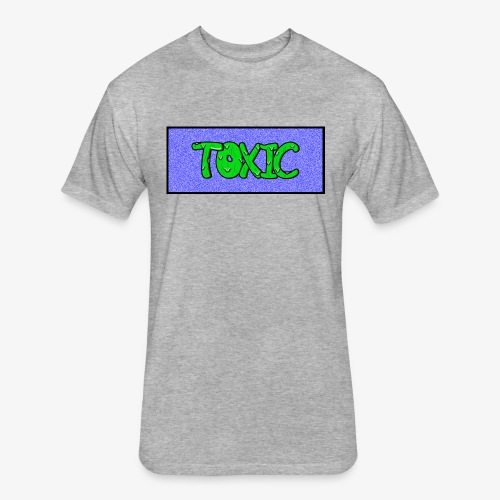 Toxic design v2 Blue - Fitted Cotton/Poly T-Shirt by Next Level