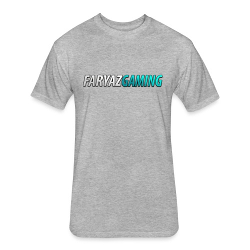 FaryazGaming Theme Text - Fitted Cotton/Poly T-Shirt by Next Level