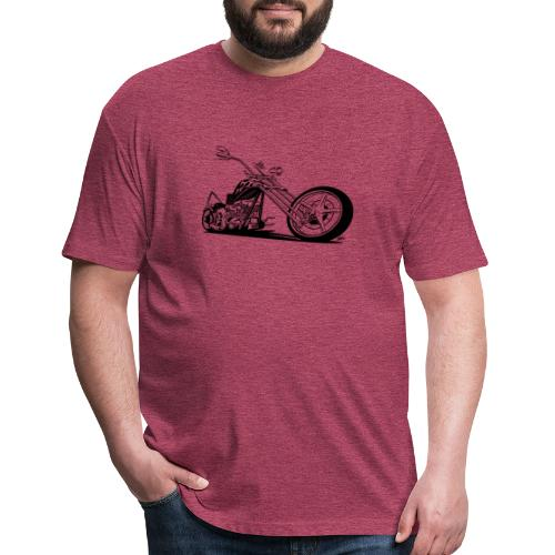 Custom American Chopper Motorcycle - Fitted Cotton/Poly T-Shirt by Next Level