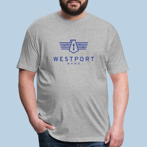 Westport Band Blue on transparent - Fitted Cotton/Poly T-Shirt by Next Level