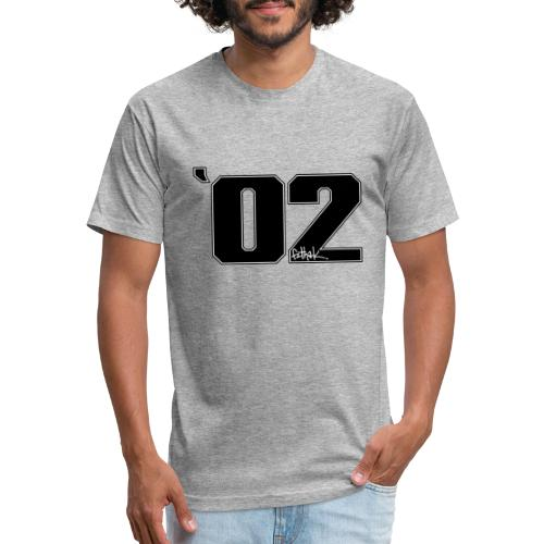 2002 (Black) - Fitted Cotton/Poly T-Shirt by Next Level