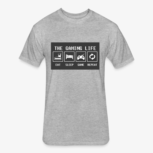 Gaming is life - Fitted Cotton/Poly T-Shirt by Next Level
