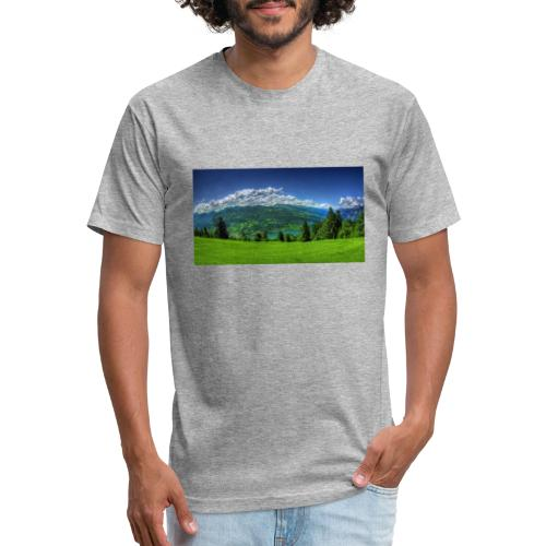 Nature Design - Fitted Cotton/Poly T-Shirt by Next Level
