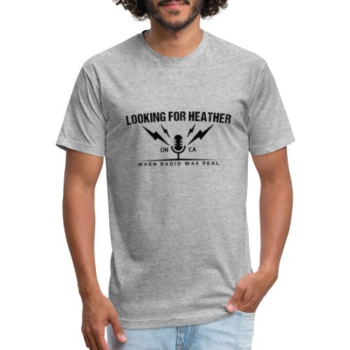 Looking For Heather - When Radio Was Real (Black) - Fitted Cotton/Poly T-Shirt by Next Level