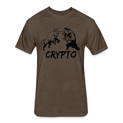 CryptoBattle Black - Fitted Cotton/Poly T-Shirt by Next Level
