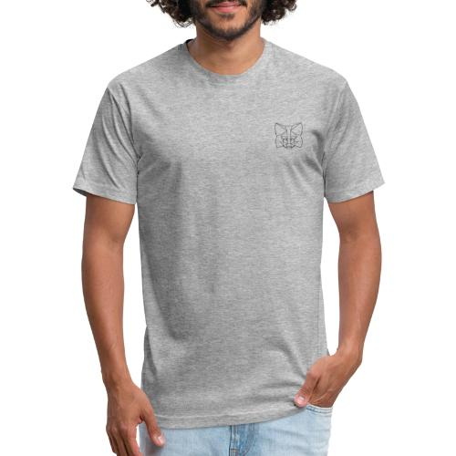 MetaMask Fox Outline black - Fitted Cotton/Poly T-Shirt by Next Level
