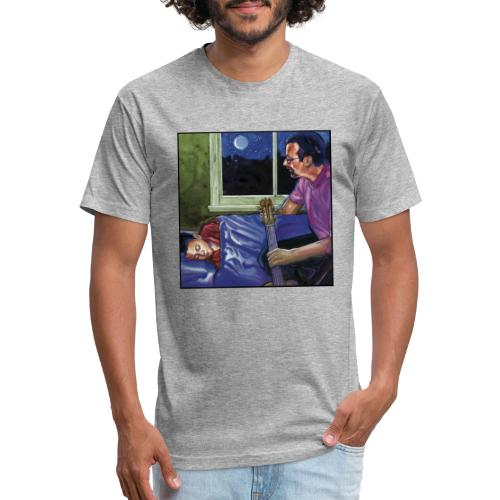 Cover Late Night Guitar 300 DPI No Type - Fitted Cotton/Poly T-Shirt by Next Level