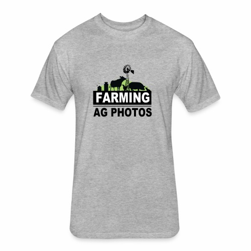 Farming Ag Photos - Fitted Cotton/Poly T-Shirt by Next Level