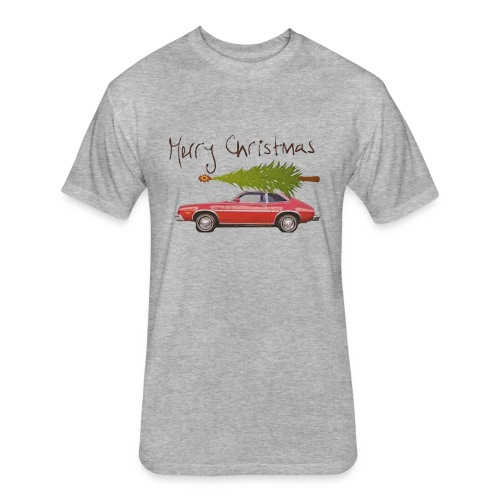 Ford Pinto Merry Christmas - Fitted Cotton/Poly T-Shirt by Next Level